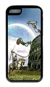 iPhone 5c case, Cute Colosseum Fantazy iPhone 5c Cover, iPhone 5c Cases, Soft Black iPhone 5c Covers