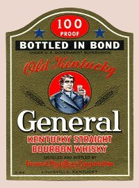 General Distillers Corporation - Old Kentucky General Kentucky Straight Bourbon Whisky - Collectible Bottle Labels - Set of 4 Labels (Ale Brew Distiller compare prices)