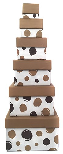 Nested Gift Box Tower 6 Tier| Empty Bulk Wholesale Boxes
