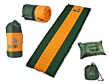 Ryno Tuff Sleeping Pad Set, Self-Inflating Foam Camping Mattress with Bonus Travel Pillow, The Inflatable Camping Mat is Large and Insulated Yet Compact When Folded (Sleeping Pad Set)