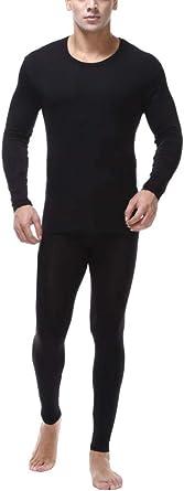 Conjunto Térmico De Ropa Interior para Hombre Camiseta Manga Larga & Pantalones Largos