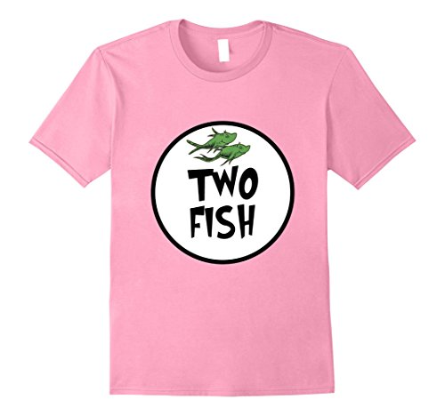 Mens Cute Rhyming Two Fish T-shirt | Group Matching Costume Large (Family Themed Group Halloween Costume Ideas)
