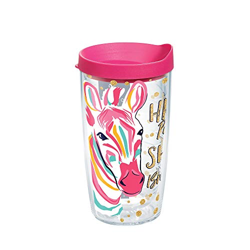 Tervis 1225545 Simply Southern Purple Zebra 16 oz Tumbler with lid 16oz Clear
