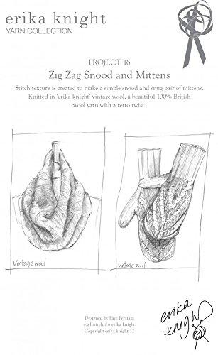 Erika Knight Vintage Wool Knitting Pattern Zig Zag Snood & Mittens Aran