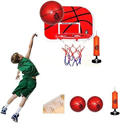 ハンギングバスケットボールボードバスケットボールセット子供バスケットボールスタンド壁に取り付けられたボールとポンプティーンズ大人のスポーツトレーニング46x32.5cm