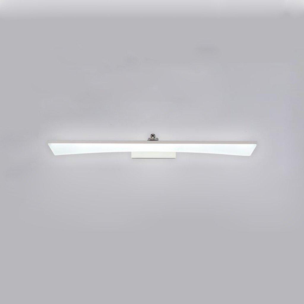 badezimmerlampe Spiegel-vorderes helles geführtes Badezimmer-Badezimmer-Spiegel-Licht-Verfassungs-Lichter Moderner wasserdichter Nebel Schminklicht (Farbe   weißes Licht-16w 80cm)