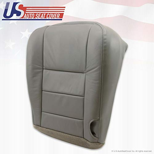 02-07 F250 F350 Lariat Driver Side Bottom Replacement Leather Seat Cover Gray