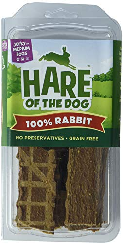Hare Of The Dog 100% Rabbit Jerky For Medium Dogs - All Natural, Grain Free Dog Treat, Limited Ingredients, Usa Made