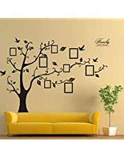 2PCS 3D Sticker On The Wall Black Art Photo Frame Memory Tree Wall Stickers Home Decor Family Tree Wall Decal-X