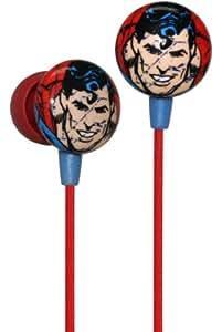 iHip HPDCSUPER DC Comics - Auriculares internos, color rojo con diseño de Superman