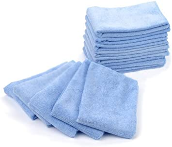 120 new plush blue royal microfiber towel new cleaning cloths bulk 16x16 sale