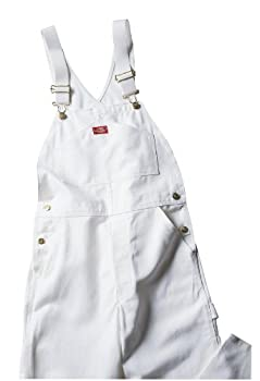 Dickies Men's Painters Bib Overall, White, 36x30 0