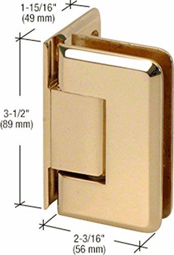 Plate Pin Hinge (CRL Pinnacle 044 Series Brass Wall Mount Offset Back Plate Hinge)