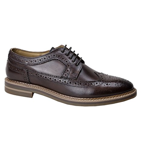 Stringate Brouge Scarpe Turner Brown Base London Uomo qwIBtt
