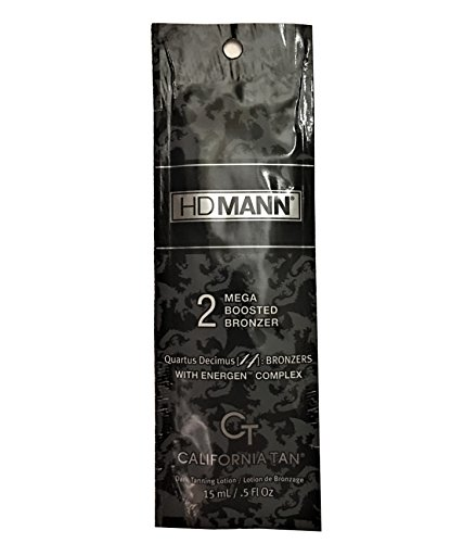 Lot Of 10 California Tan HD Mann Step 2 Bronzer Indoor Tanning Lotion Packets