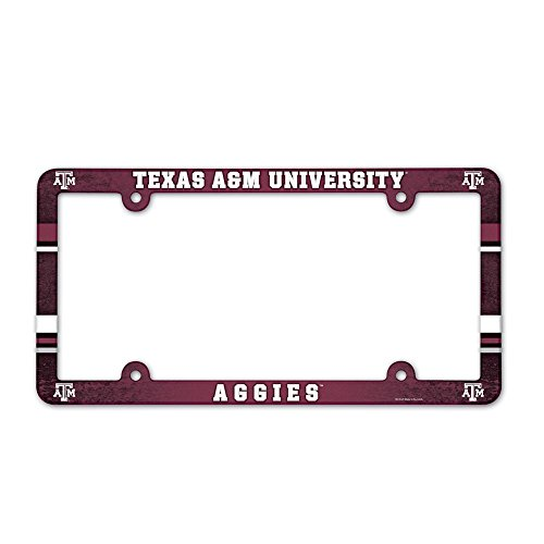 WinCraft Texas A&M Aggies Official NCAA 12 inch x 6 inch Plastic License Plate Frame by ()