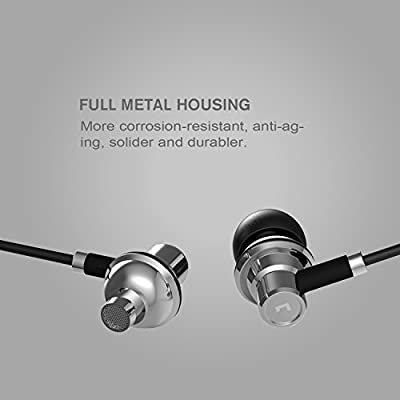 Jayfi JEB-101 Stereo Metal In Ear Headphones Bass Noise Isolating Earbuds Earphones with Mic Aviation Aluminum Black