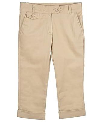Amazon.com: Nautica Big Girls' Flat Front Stretch Capri Pants ...