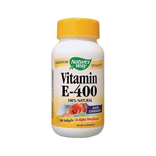 Natures Way Vitamin E - 400 IU - d-Alpha Tocopherol- 100 Softgels ()