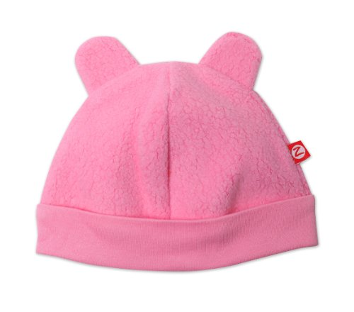 Zutano Unisex-Baby Newborn Cozie Fleece Hat, Hot Pink, 3 Months