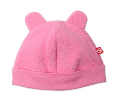 Zutano Unisex-Baby Newborn Cozie Fleece Hat, Hot Pink, 3 Months