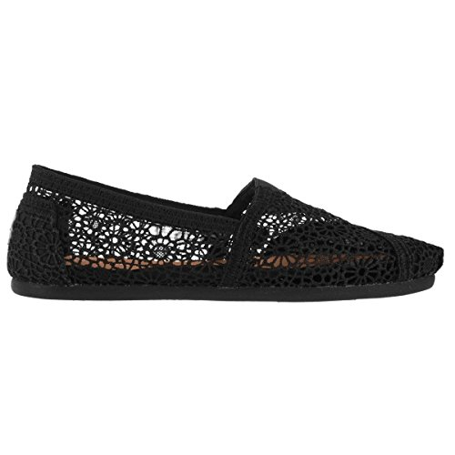 - TOMS Women's Black Moroccan Crochet Classic 10007853 (Size: 9)
