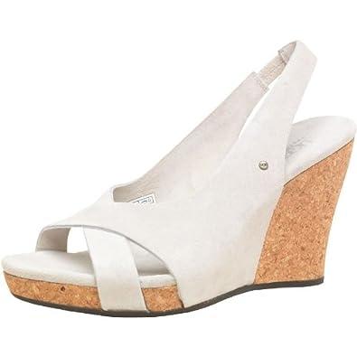 bc886150405 Womens Ugg Hazel Wedge Sandals Marshmallow Girls Ladies (6.5 UK 6.5 ...