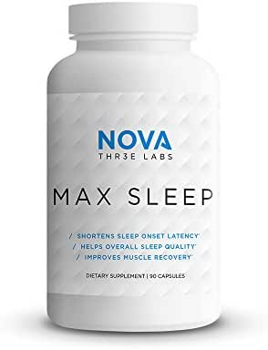 NOVA Three Labs | Max Sleep | Sleep Support for Health and Recovery | 30 Servings