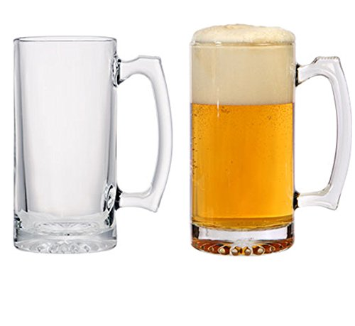Giant Beer Mugs, Jumbo Sports Super Beer Glasses, Beer Mug Set of 4 - 26.5oz. Got a Big Thirst? Quench it with These BIG BOYS., Weighty Jumbo Mugs - Perfect for Jumbo-Sized Beer, Water or Ice Tea