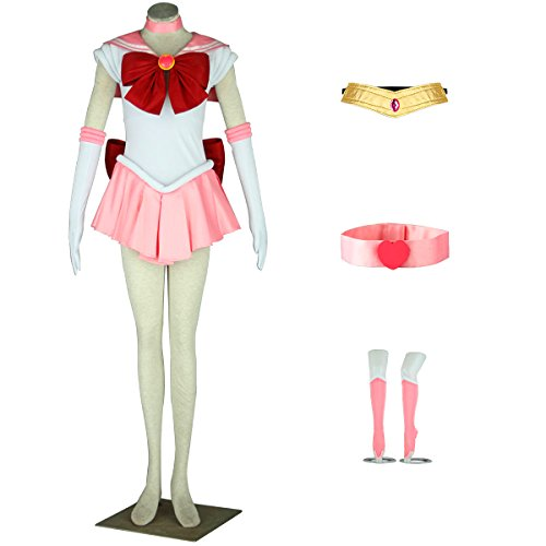 AnotherMe Women's Costume Sailor Moon Chibi USA Chibi Cosplay Outfit Uniform Dress Suit Female -