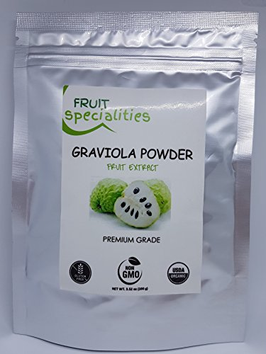 Graviola (Soursop) FRUIT Powder, 100% Natural, Pure Fruit Powder 2.2 lb (10:1 Extract) Annona Muricata Guanabana by Fruit Specialities (Image #5)