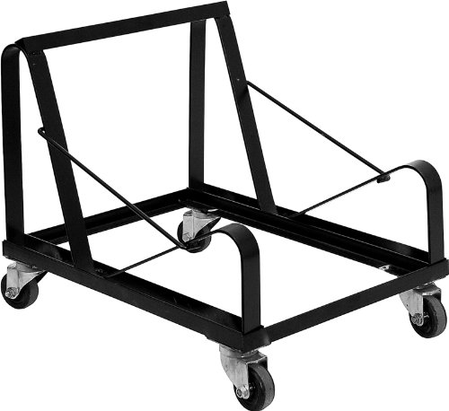 Offex Heavy Duty Steel Sled Base Stack Chair Dolly - Black