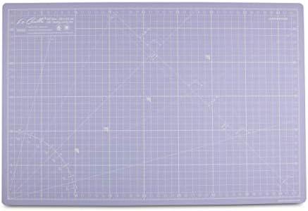 La Canilla ® - Selbstheilende Schneidematte A3 (45x30cm) Zentimeter und Zoll (beidseitig Bedruckt) 5 Schichten Recycling-PVC für Nähen, Basteln und Patchworken - Professionell Cutting Mat (Lila)