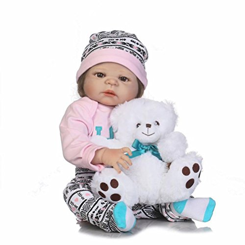 d1d73c4cc92a NPK Full Body Silicone Toddler Girl Doll Anatomically Correct Reborn Baby  Look Real for Nursery Training
