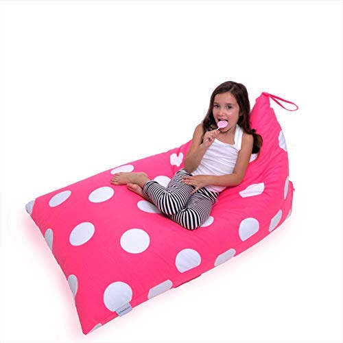 Butterfly Craze Stuffed Animal Storage Bean Bag Chair – Stuff 'n Sit Toy Bag Floor Lounger for Kids, Teens and Adult |Extra Large 200L/52 Gal Capacity |Premium Cotton Canvas (Hot Pink)
