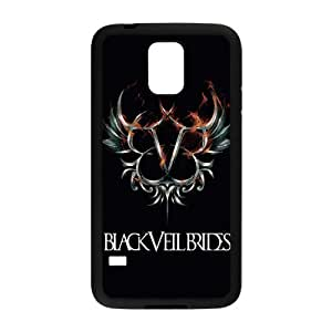 FEEL.Q- Custom Rubber Back Fits Cover Case for Samsung Galaxy S5 S V I9600 - Black Veil Brides by mcsharks