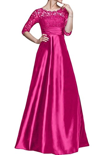 Bride Lace Long Fuchsia Dresses with Mother Half Fanciest Women the Sleeves s of THxH0E