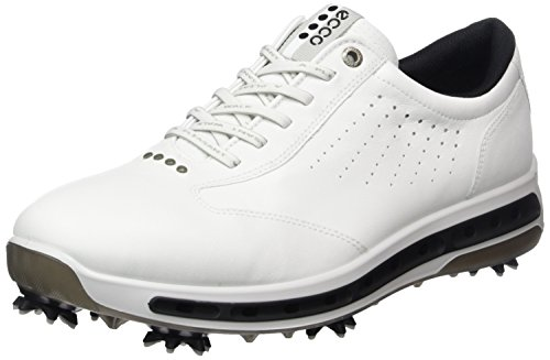 ECCO Men's Cool Gore-Tex Golf Shoe, White/Black, 45 EU/11-11.5 M US