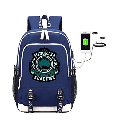 My Laptop Usb Trekking Unisex Anime Student Canvas Casual Ricarica Game Con Academia A08 Schoolbag Zaino Hero Di Porta Book Dayback Bag 6TqwzdT