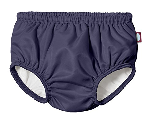 City Threads Baby Girls' and Boys' Swim Diaper Cover Reusable Leakproof For Swimming Pool Lessons Beach, Navy, 3-6 Months]()