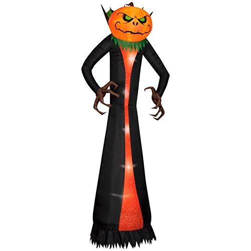 10 Foot Halloween Inflatable Airblown Pumpkin Head Grim Reaper Lighted Home Yard Garden Indoor Outdoor Decoration ()