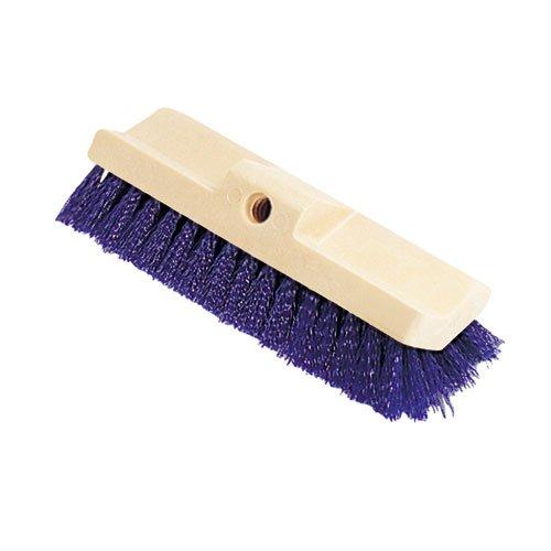 Bi-Level Deck Scrub Brush, Polypropylene Fibers, 10 Plastic Block, Tapered -