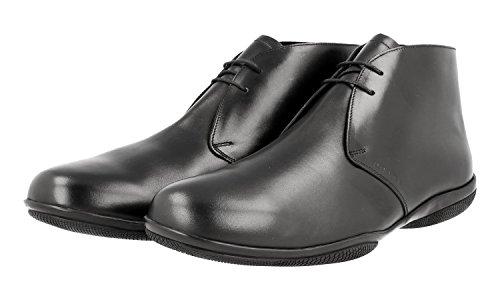 Prada Hombres 4t2107 Zapatos Con Cordones De Cuero
