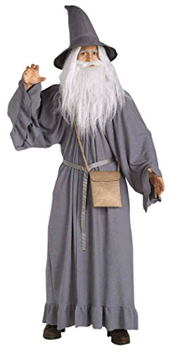 UHC Men's Deluxe The Lord Of The Rings Gandalf Theme Party Costume, Standard (up to 44)
