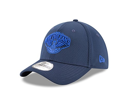 NBA New Orleans Pelicans Adult Tone Tech Redux OTC 39THIRTY Stretch Fit Cap, Medium/Large, Oceanside Blue