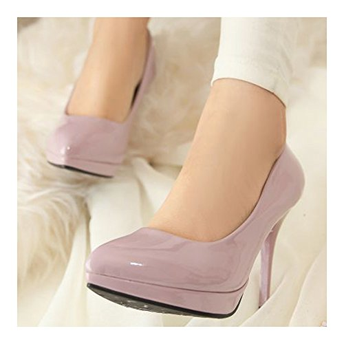 Pointed Heel Night High purple Women Work Shoes 38 Thin Club wqOYxXE7