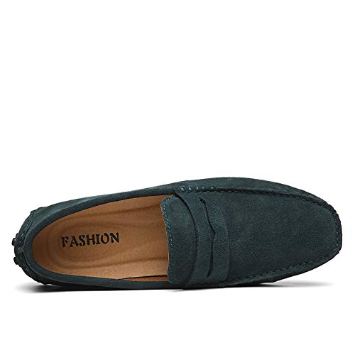 antiscivolo guida da Scarpe Casual Flats Mocassini Soft uomo Leather da Boat Green Scamosciata pw0q8xOXx