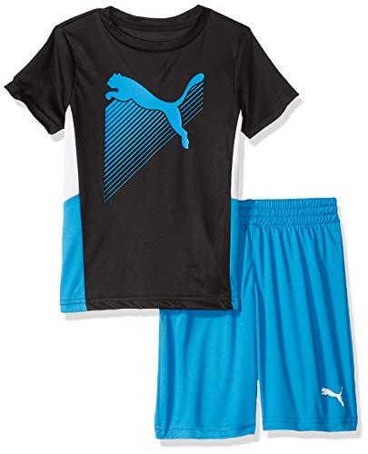 PUMA Little Boys' T-Shirt & Short Set, Black, ()