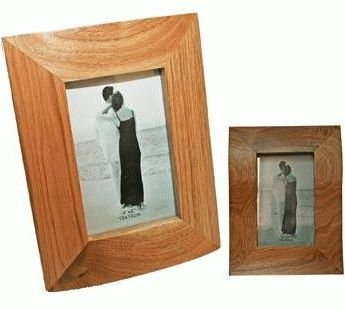 solid oak wood photo picture frame 4x6 9 inch 1