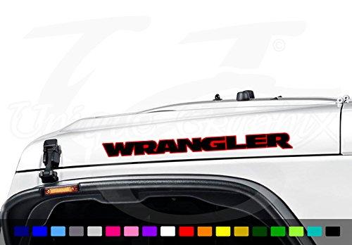 Jeep Wrangler WRANGLER 2 color Vinyl Hood Decal Emblem 1 pair